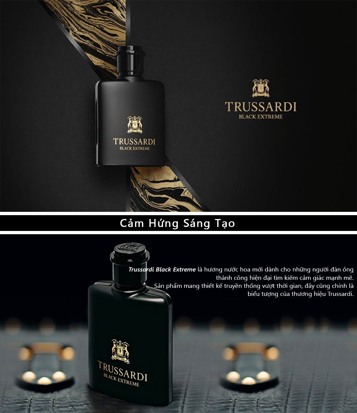 Nước Hoa Trussardi Black Extreme